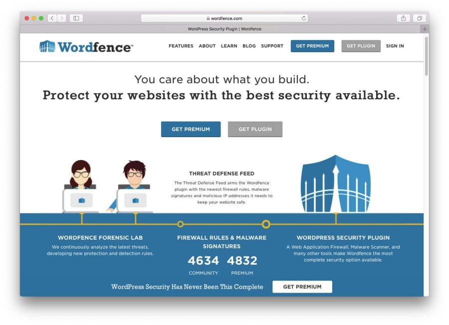 Wordfence security plugin