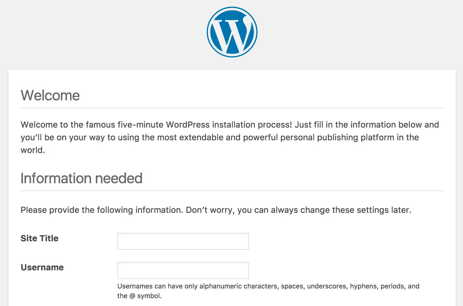 Processus d'installation WordPress