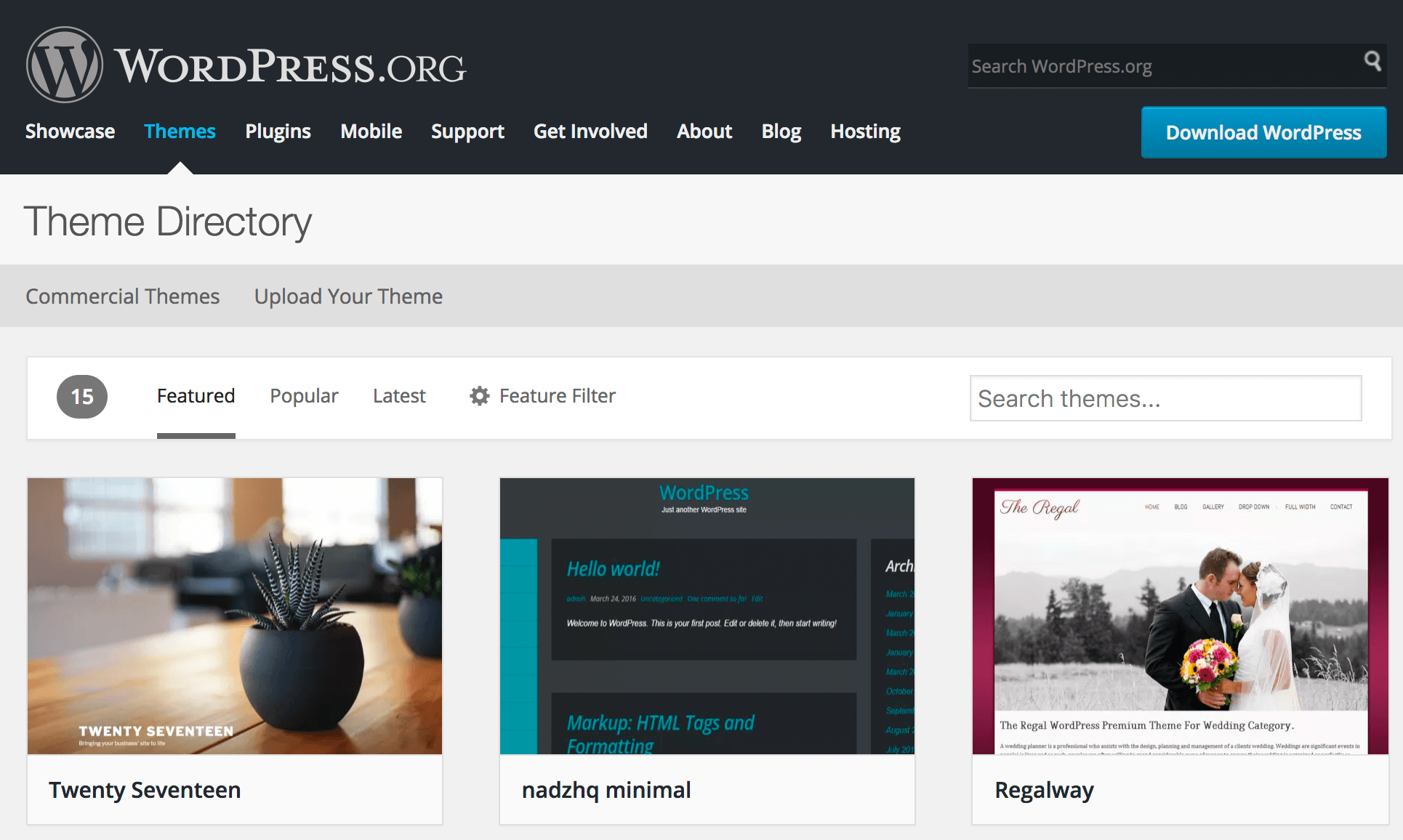 Direktori tema WordPress