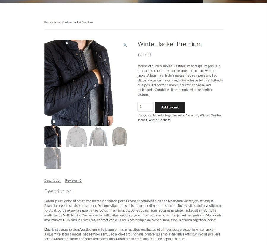 WooCommerce new Product sample