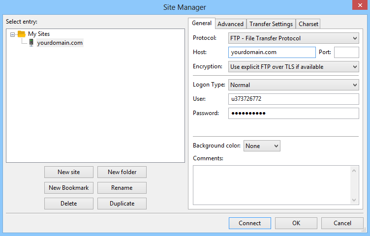 This is how to configure filezilla to connect with Hostinger's web server.