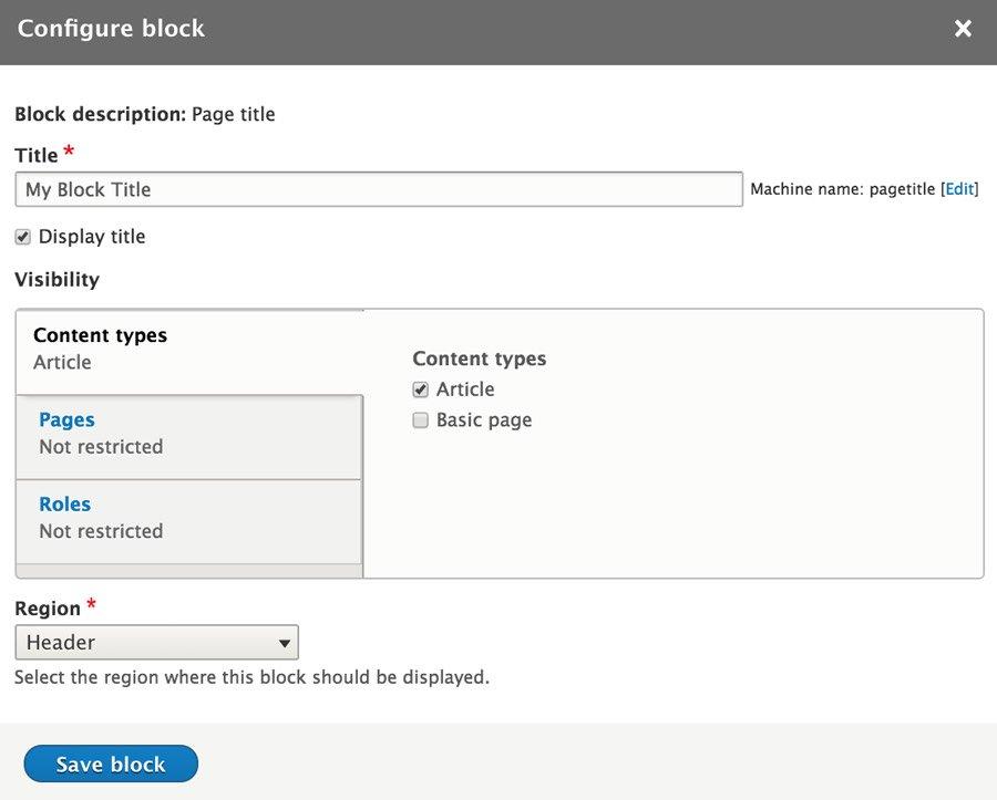 Add Block in Drupal