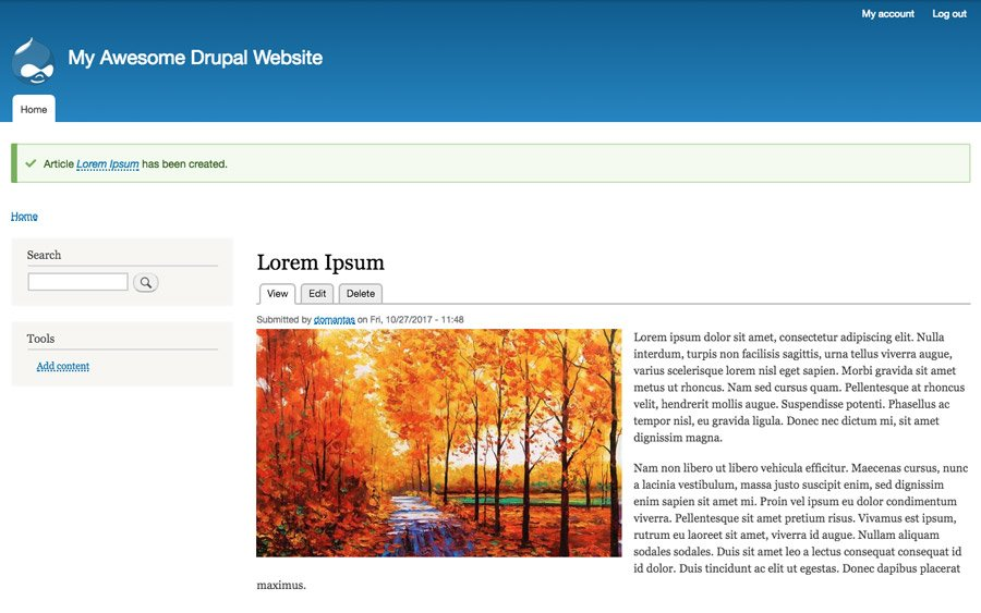 Published Article Drupal