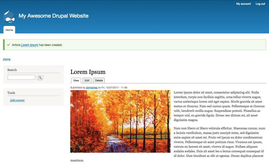 Published Article Drupal