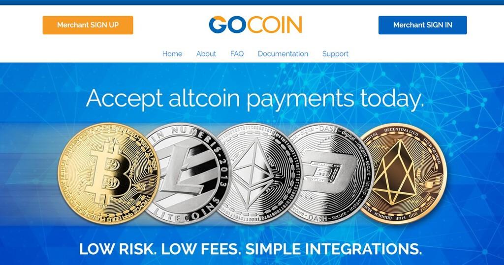 Gocoin's homepage