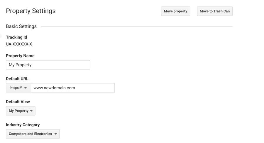 Changing WordPress site domain in Google Analytics