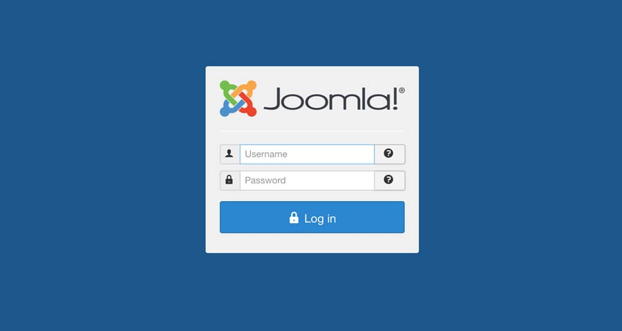 Joomla! Administrator Login Screen