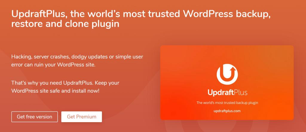 UpdraftPlus web banner.