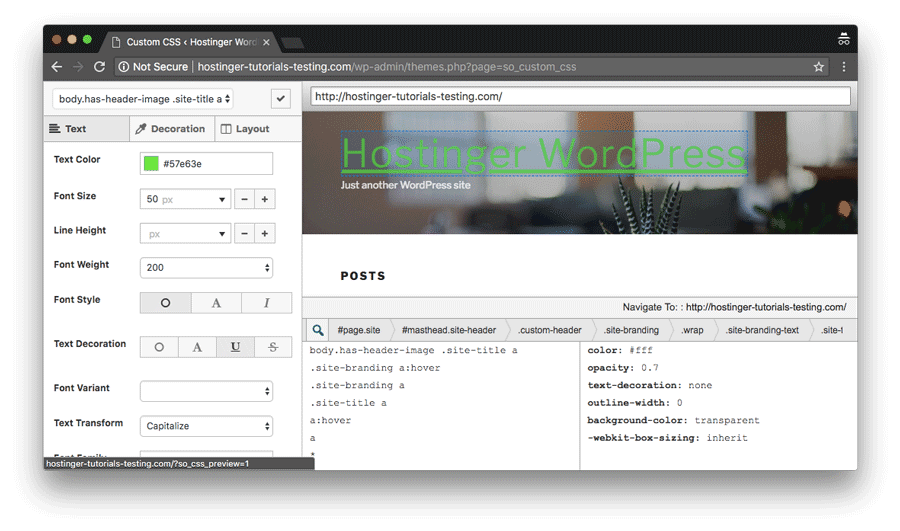 Add WordPress custom CSS through SiteOriginin plugin and manage everything in a convenient editor-like interface