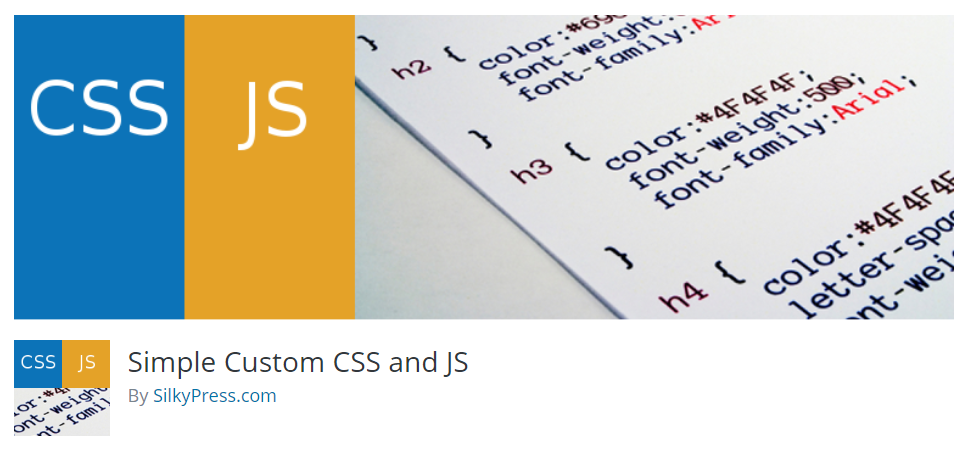 Installing Simple Custom CSS and JS plugin for WordPress