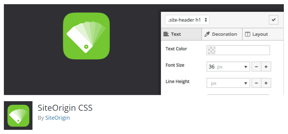 Installing SiteOrigin CSS plugin for WordPress