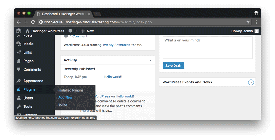 WordPress custom CSS plugins can be easily installed via WP Dashboard->Plugins->Add New section
