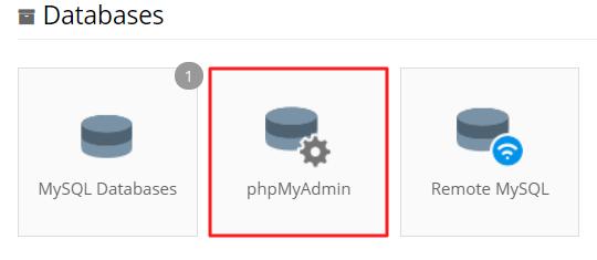 phpmyadmin-in-cpanel