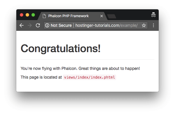 Phalcon Framework successfully launched on Hostinger VPS