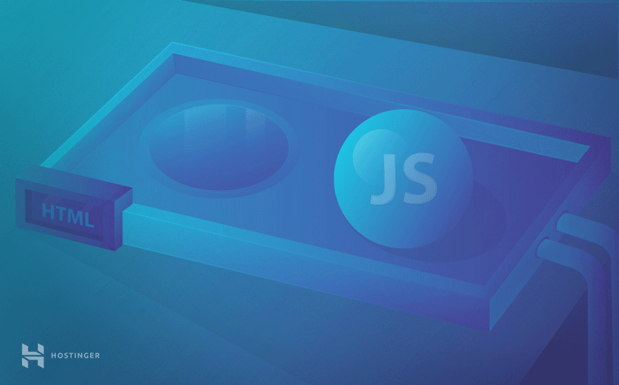 A visual demonstration of how to add JavaScript in HTML