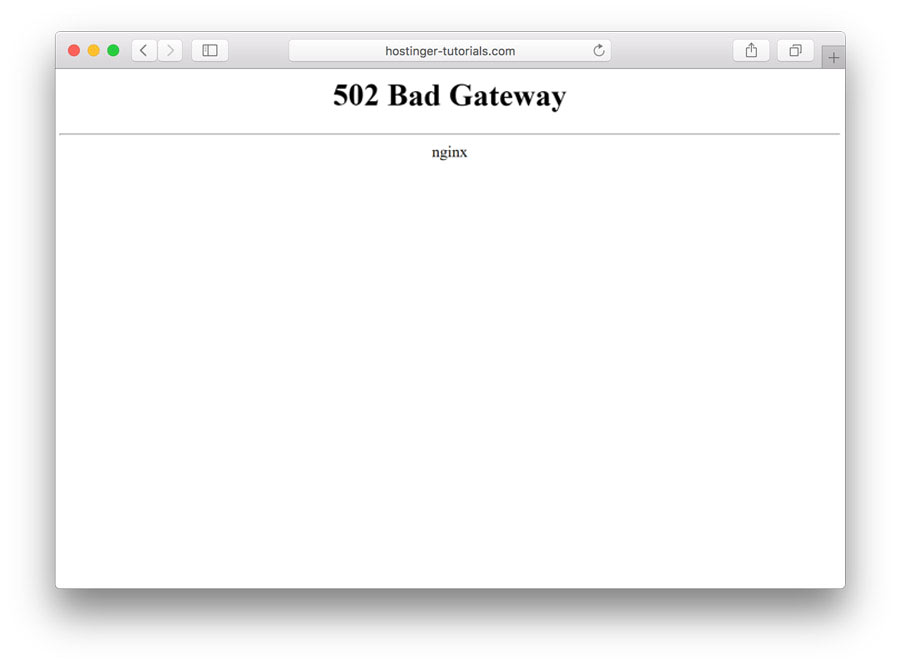 what is a 502 bad gateway mean