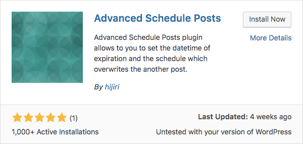 Advanced scheduled posts WordPress plugin