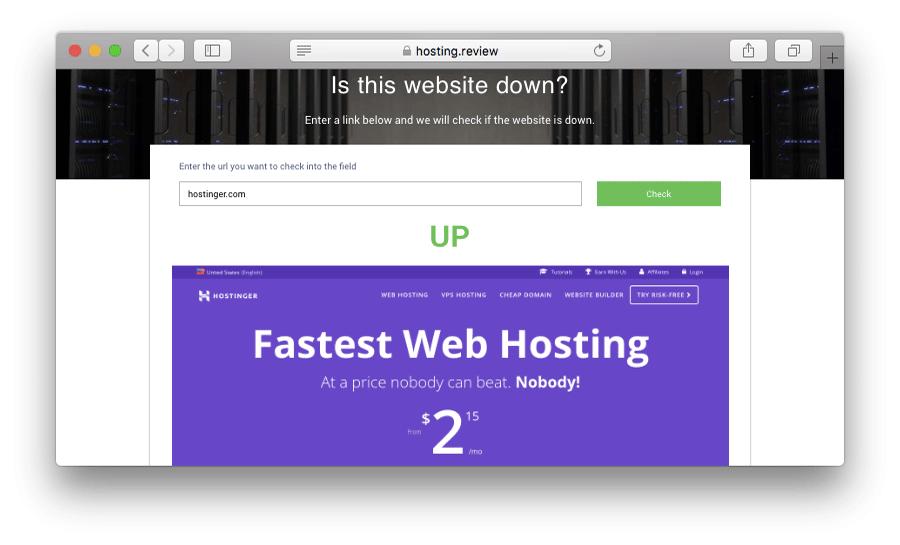 Mengecek ketersediaan website dengan tool online