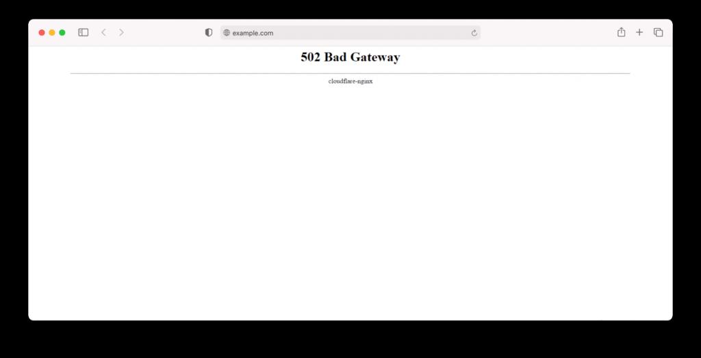 cloudflare 502 error