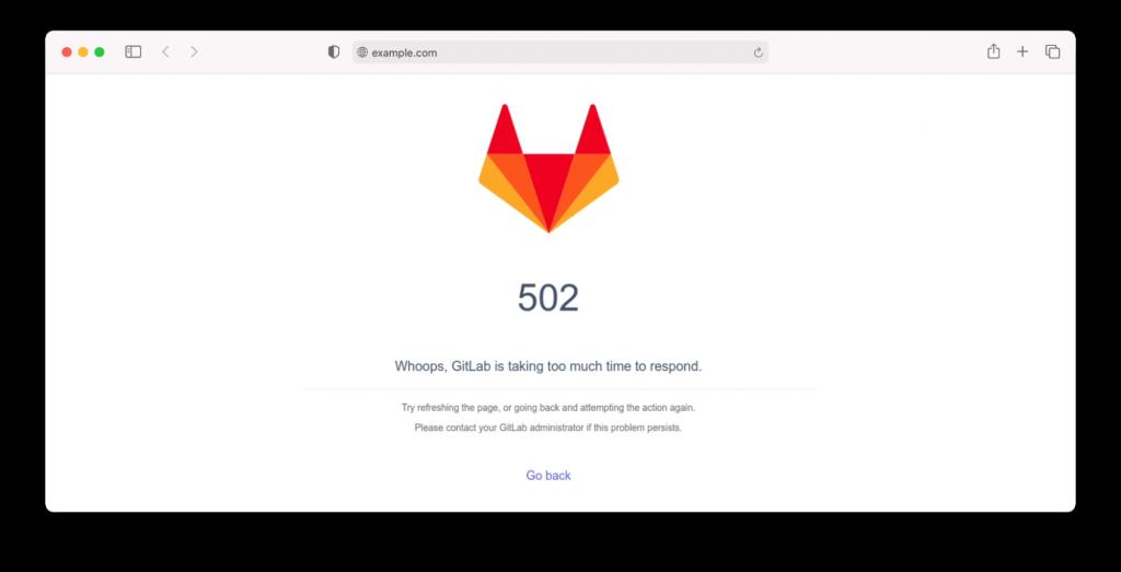 Gitlab 502 error