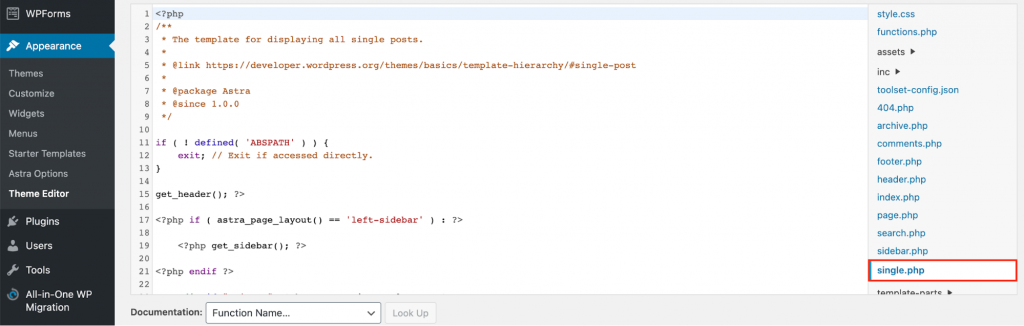 Disable Comments via Custom Code - single php