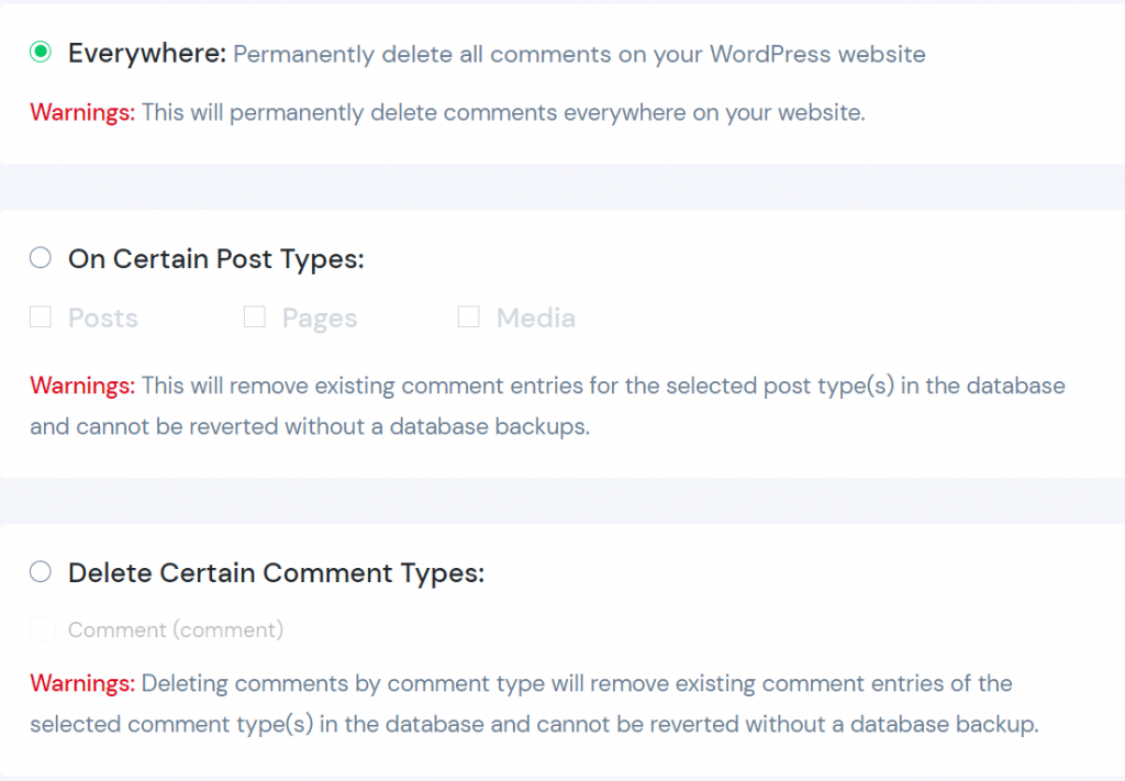 Disable Comments Using a WordPress Plugin - everywhere