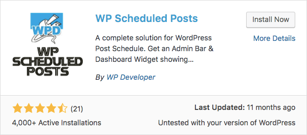 Schedule WordPress posts with wp scheduled posts plugin