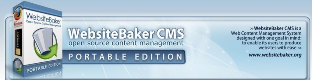 Website Baker logo screenshot
