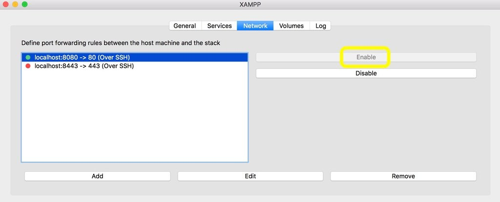 XAMPP Network Tab Screenshot