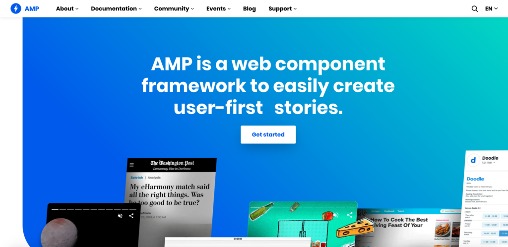Google AMP Project homepage