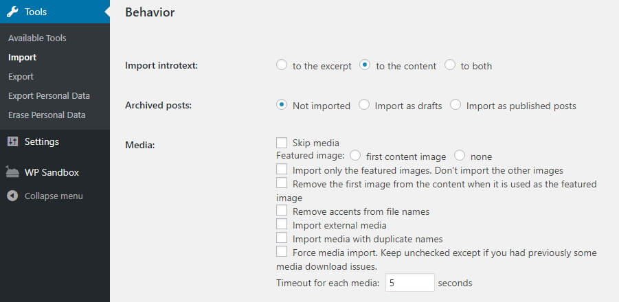 Configuring your media importing settings.