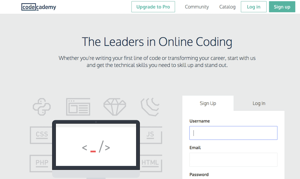 Learn coding online for free with Code Academy