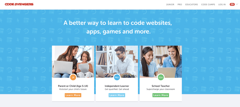 Learn coding online for free with Code Avengers