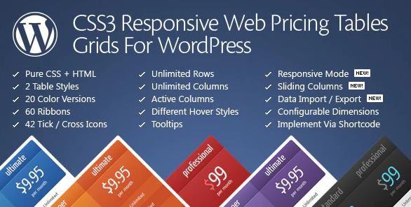 Css3 WordPress Table Plugin