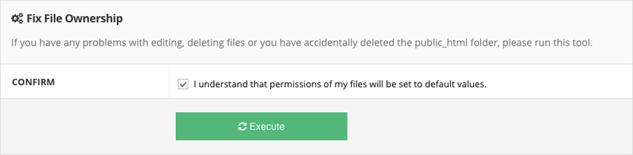 Fixing file and directory permissions on Hostinger