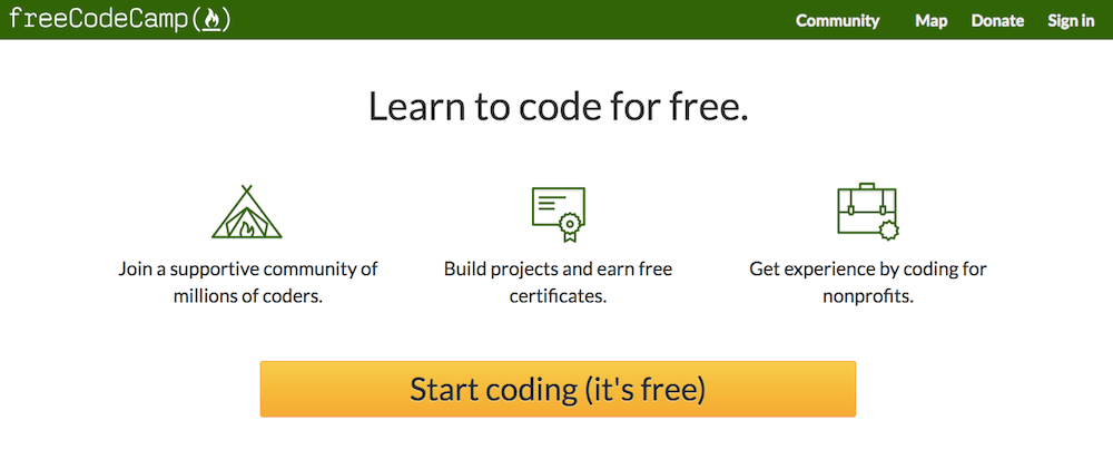 Learn coding online for free with Free Code Camp