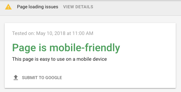 WordPress SEO tip - run a Google mobile friendliness test