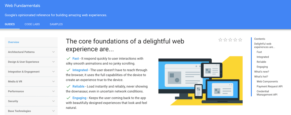 Learn coding online for free with Google Web Fundamentals