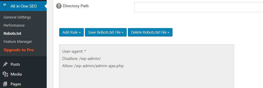 A greyed out robots.txt for WordPress.