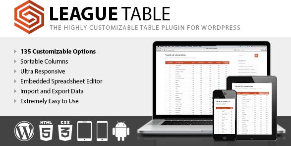 League Table WordPress Table Plugin