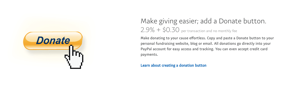 Setting up a donate button on PayPal