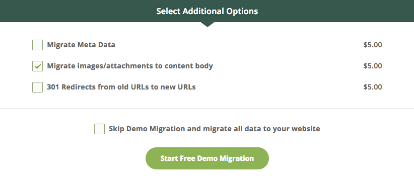 additional migration options