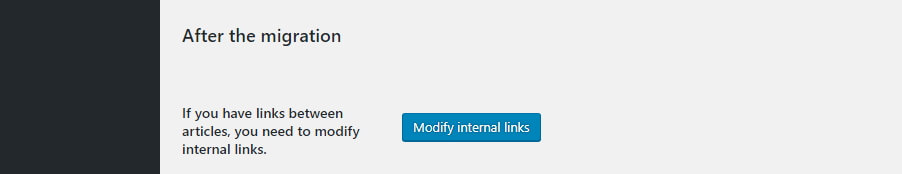 Fixing your internal links.