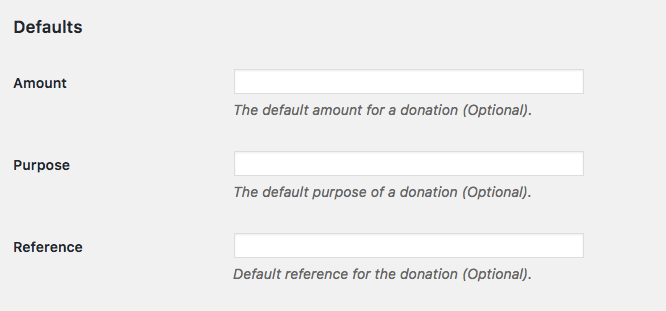 Additional settings for PayPal donate button