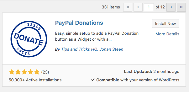 paypal donations plugin