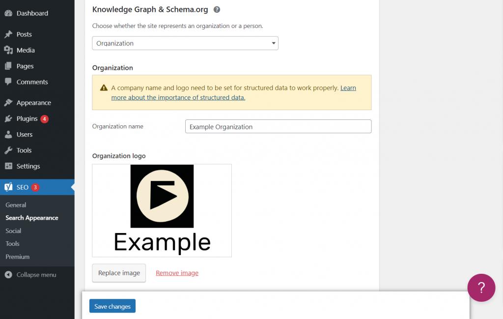 Setting Schema.org through WordPress dashboard