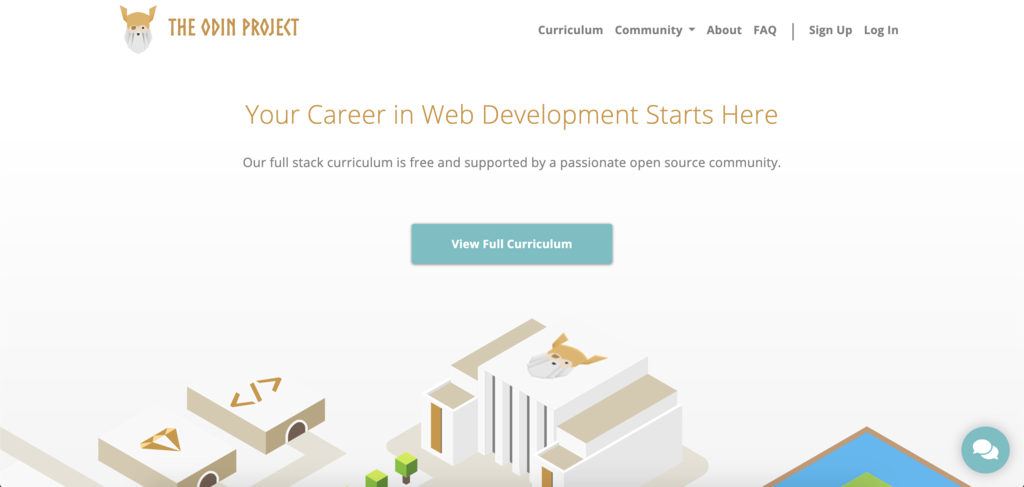 the odin project login page to learn coding for free