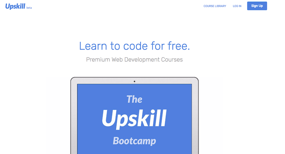 Learn coding online for free with Upskill