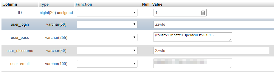 Editing the values associated with one of your users through your database.
