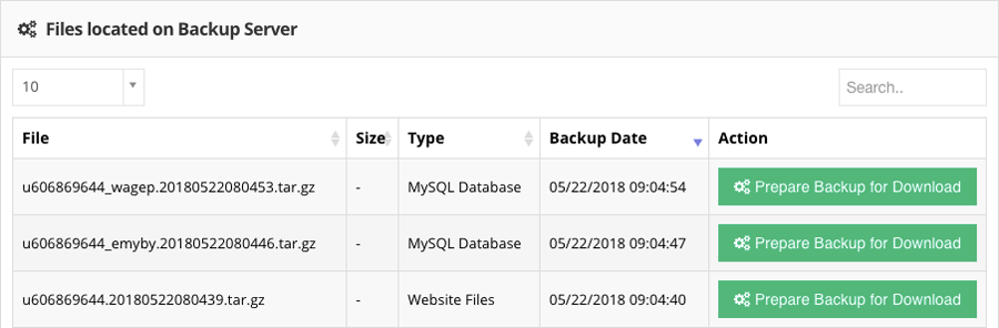 Website and MySQL Database Backups on Hostinger